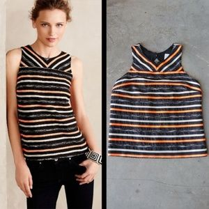 Anthropologie HD in Paris Ribboned Tank (sz 2)